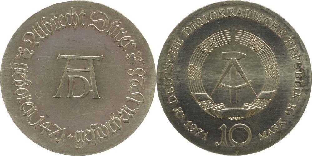 Lieferumfang:DDR : 10 Mark Albrecht Dürer  1971 Stgl.