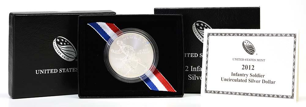USA : 1 Dollar Infanteriesoldat  2012 Stgl.