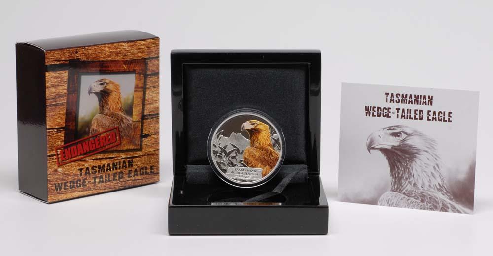 Lieferumfang:Tuvalu : 1 Dollar Wedge Tailed Eagle - Keilschwanz Adler - farbig  2012 PP