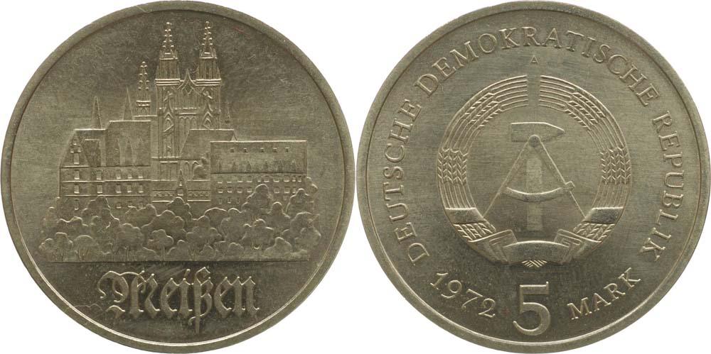 Lieferumfang:DDR : 5 Mark Meißen  1972 vz.