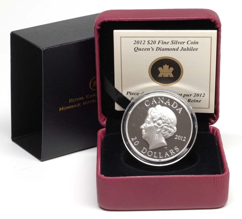Kanada : 20 Dollar 60 J. Krönungsjubiläum - Highrelief  2012 PP