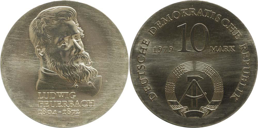 Lieferumfang:DDR : 10 Mark Ludwig Feuerbach  1979 Stgl.