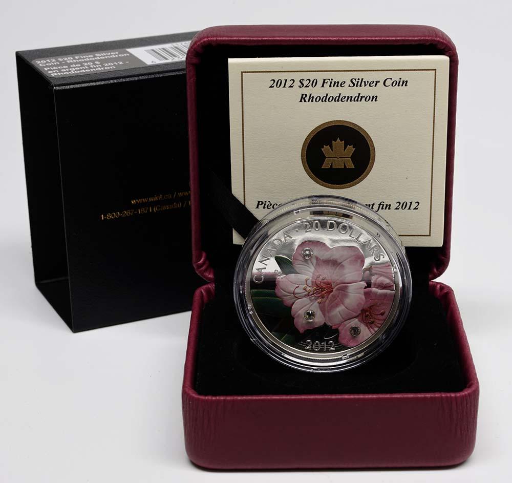 Kanada : 20 Dollar Rhododendron mit Swarowskikristall  2012 PP
