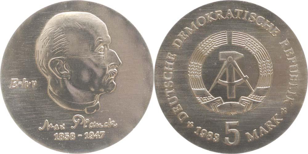 Lieferumfang:DDR : 5 Mark Max Planck  1983 Stgl.