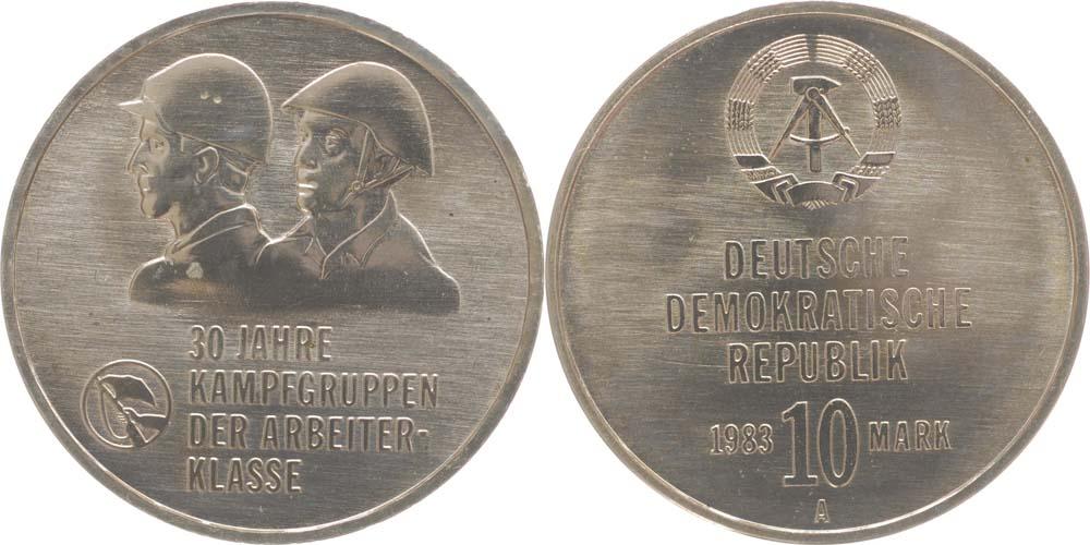 Übersicht:DDR : 10 Mark Kampfgruppen  1983 vz.