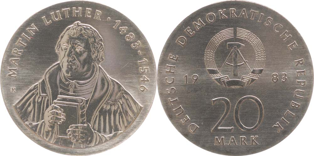 20 Mark Luther 1983 (DDR)