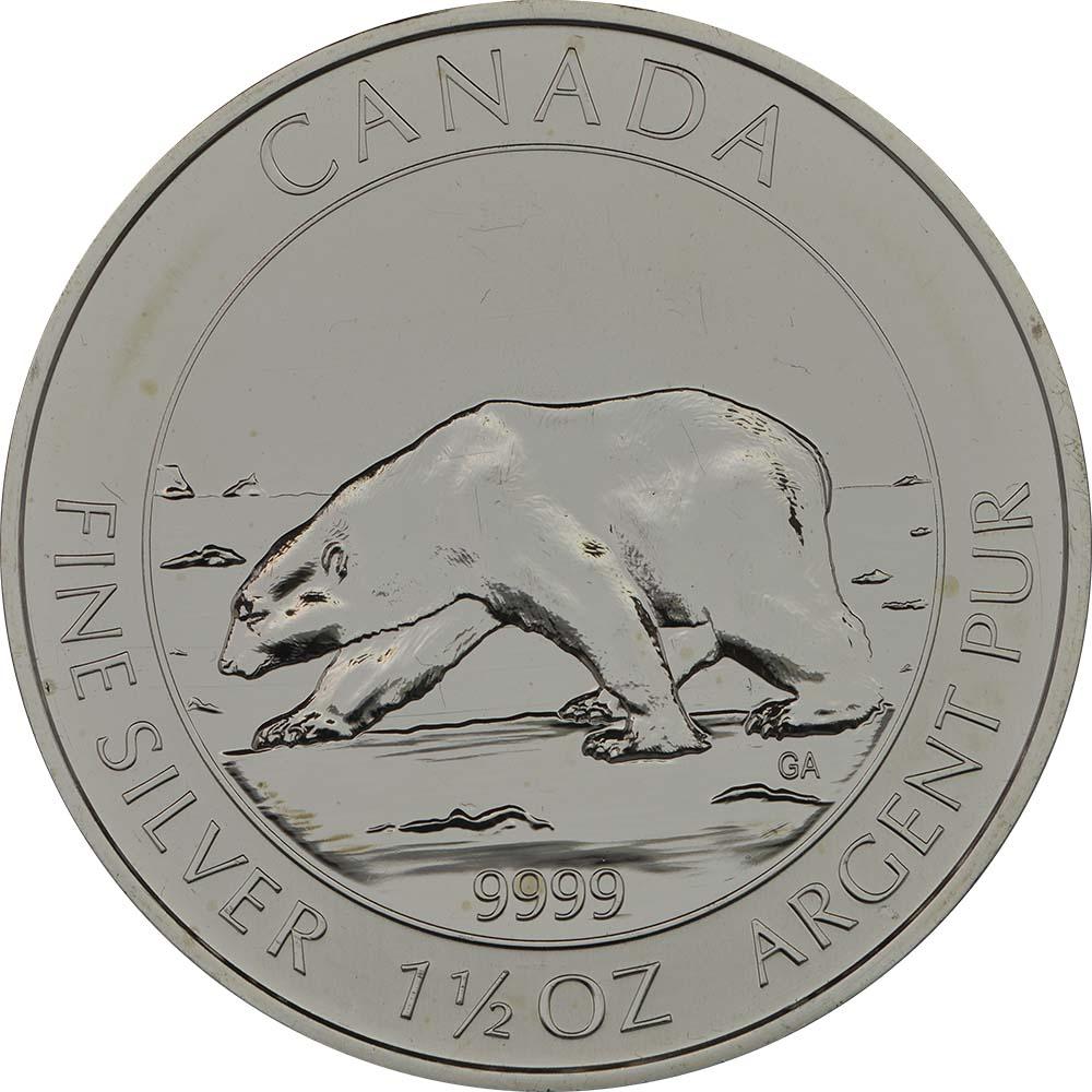 Kanada : 8 Dollar Polarbär  2013 Stgl.