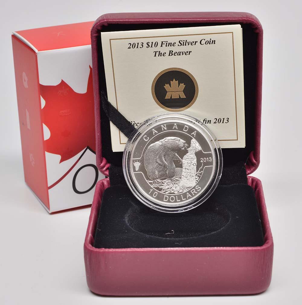 Kanada : 10 Dollar O Canada - Biber - im Etui  2013 PP