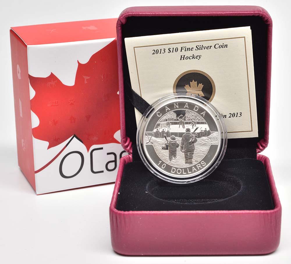 Kanada : 10 Dollar O Canada - Eishockey - im Etui  2013 PP