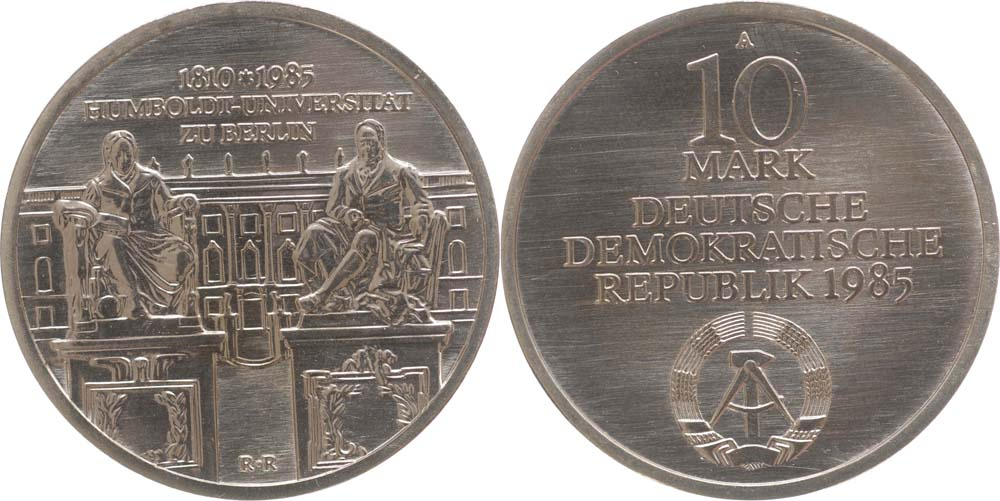 DDR : 10 Mark Humboldtuniversität Berlin  1985 Stgl.