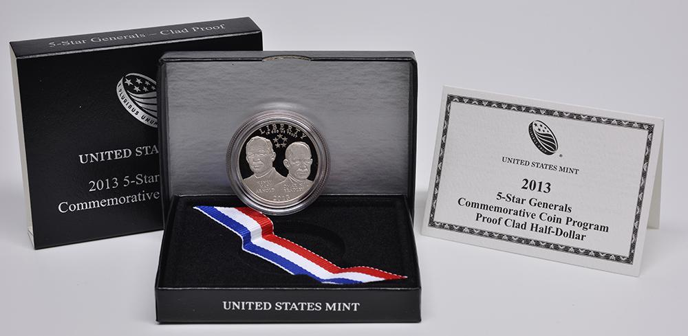 USA : 1/2 Dollar 5 Sterne Generäle - Arnold & Bradley  2013 PP