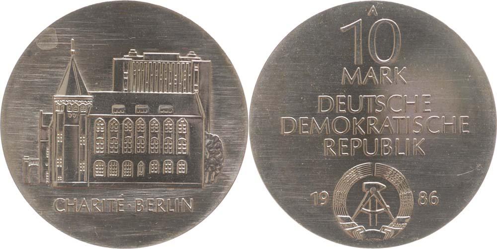 DDR : 10 Mark 275 Jahre Charité Berlin  1986 Stgl.