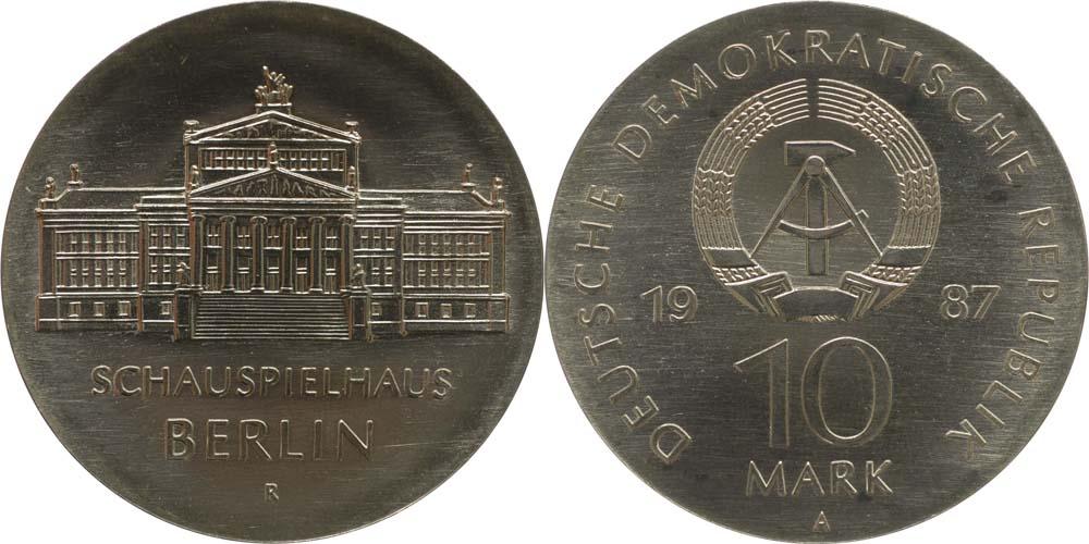 Übersicht:DDR : 10 Mark Schauspielhaus Berlin  1987 Stgl.