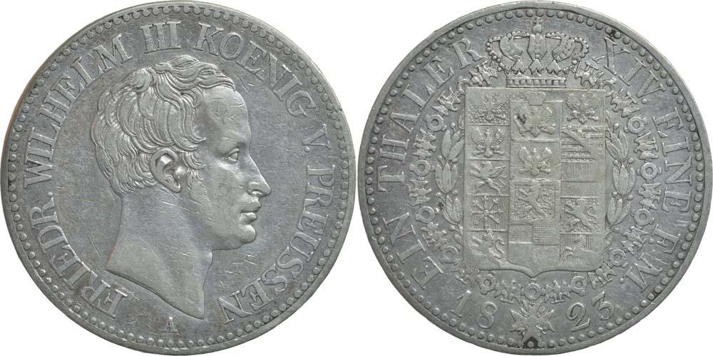 Deutschland : 1 Taler Friedrich Wilhelm III.  1823 ss.