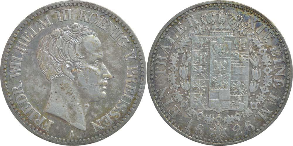 Deutschland : 1 Taler Friedrich Wilhelm III. patina 1826 ss+