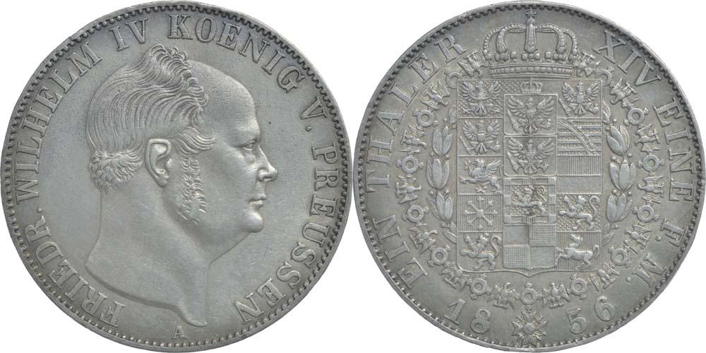 Übersicht:Deutschland : 1 Taler Friedrich Wilhelm IV.  1856 vz.