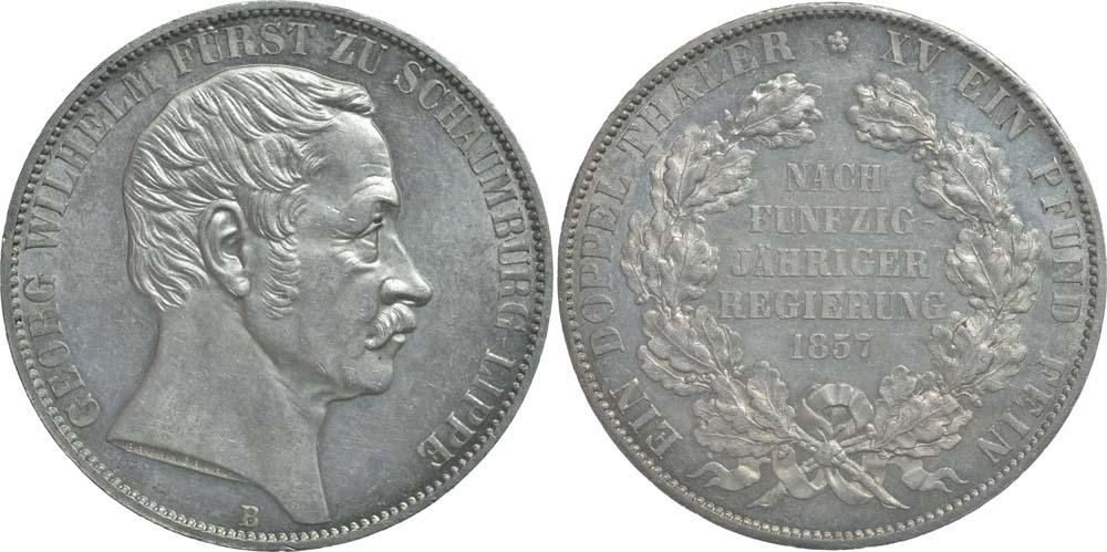 Lieferumfang:Deutschland : 1 Doppeltaler Georg WIlhelm  1857 Stgl.