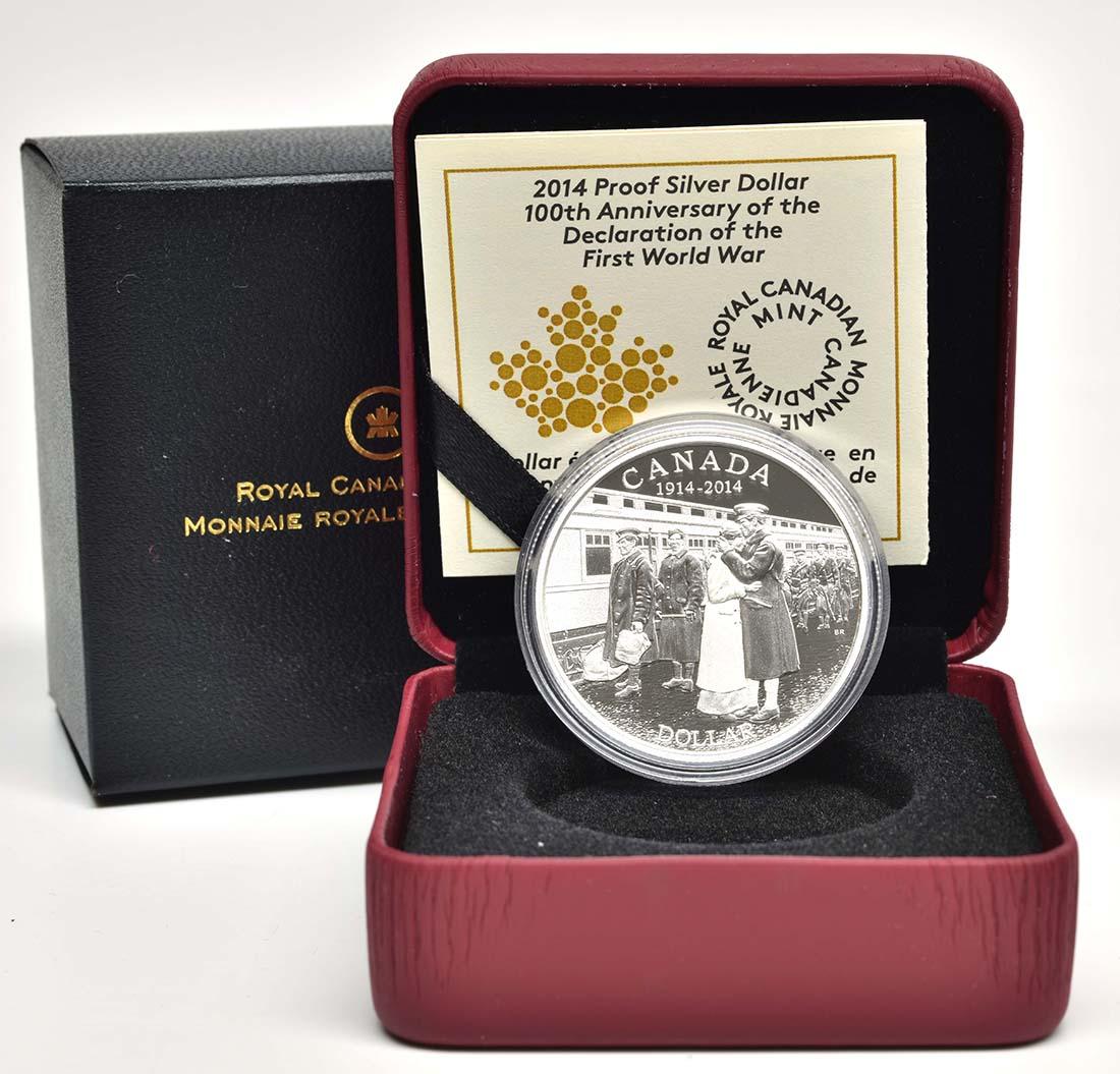 Lieferumfang:Kanada : 1 Dollar 100 J. Erklärung des I. Weltkriegs  2014 PP