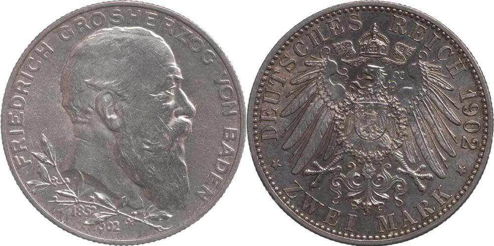 Deutschland : 2 Mark Friedrich I.  1902 Stgl.