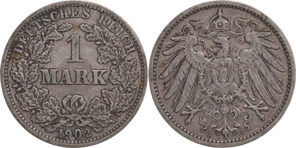 Lieferumfang:Deutschland : 1 Mark   1902 ss.