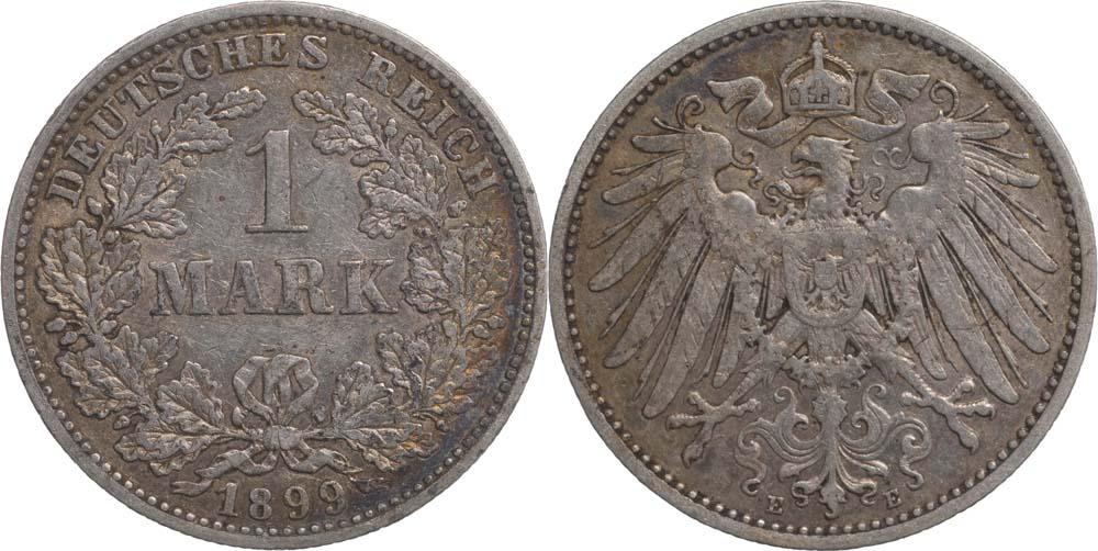 Übersicht:Deutschland : 1 Mark   1899 ss.