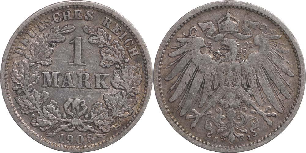 Übersicht:Deutschland : 1 Mark   1908 ss.