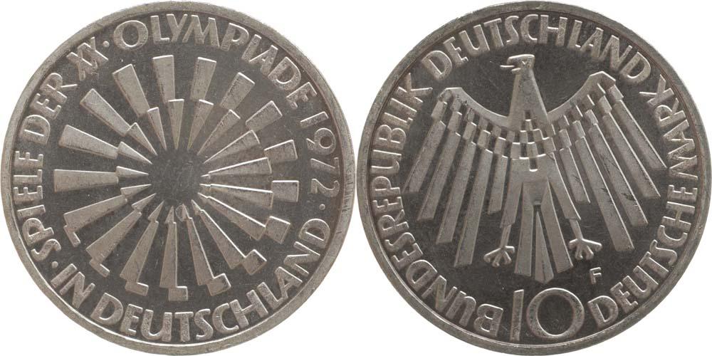 Lieferumfang:Deutschland : 10 DM Strahlenspirale Deutschland  1972 vz/Stgl.