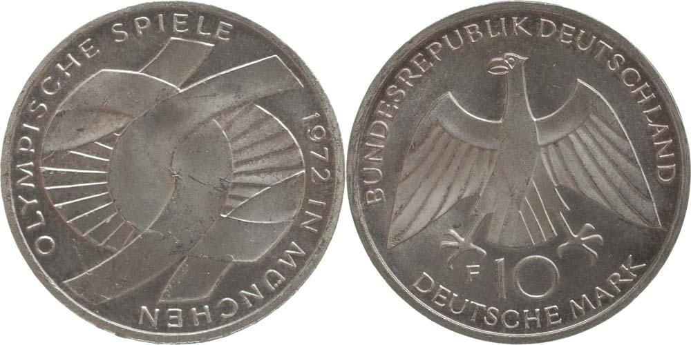 Lieferumfang:Deutschland : 10 DM Verbindungssymbole  1972 vz/Stgl.