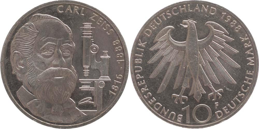 Lieferumfang:Deutschland : 10 DM Zeiss  1988 vz/Stgl.