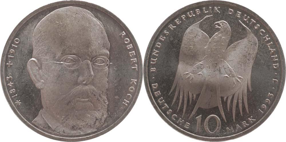 Deutschland : 10 DM Koch  1993 vz/Stgl.