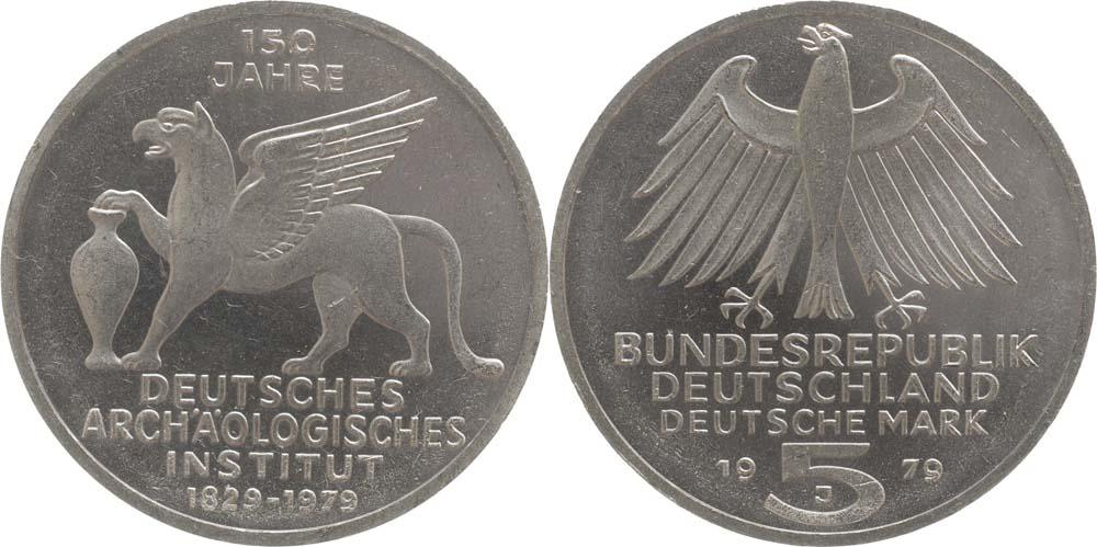 Deutschland : 5 DM Archäologisches Institut  1979 vz/Stgl.