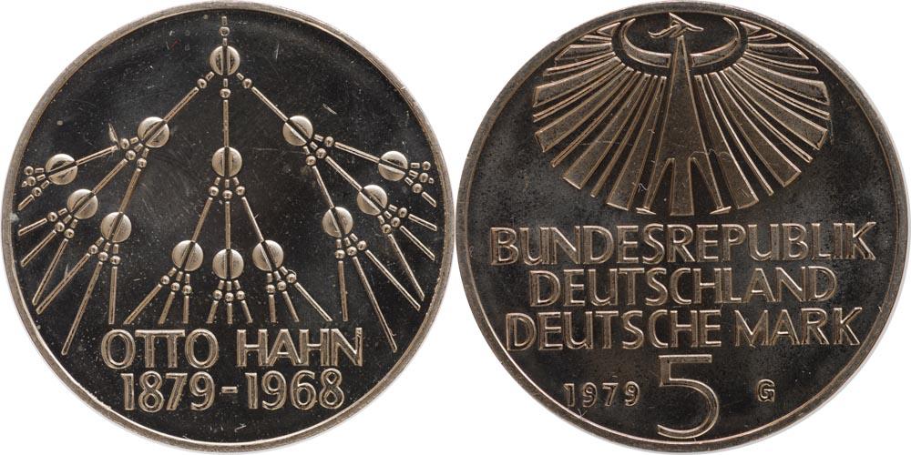 Deutschland : 5 DM Hahn  1979 vz/Stgl.