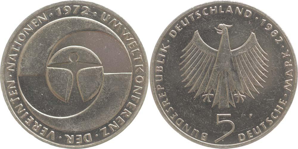 Lieferumfang:Deutschland : 5 DM Umweltkonferenz  1982 vz/Stgl.