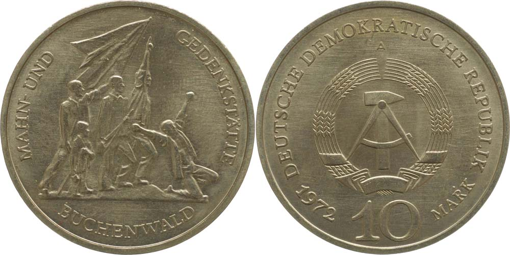 DDR : 10 Mark Buchenwald  1972 vz.
