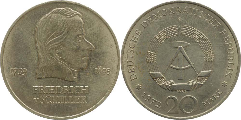 DDR : 20 Mark Friedrich Schiller  1972 vz.