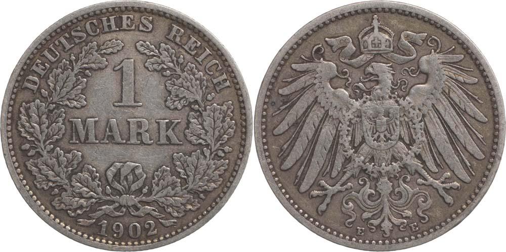 Übersicht:Deutschland : 1 Mark   1902 ss.