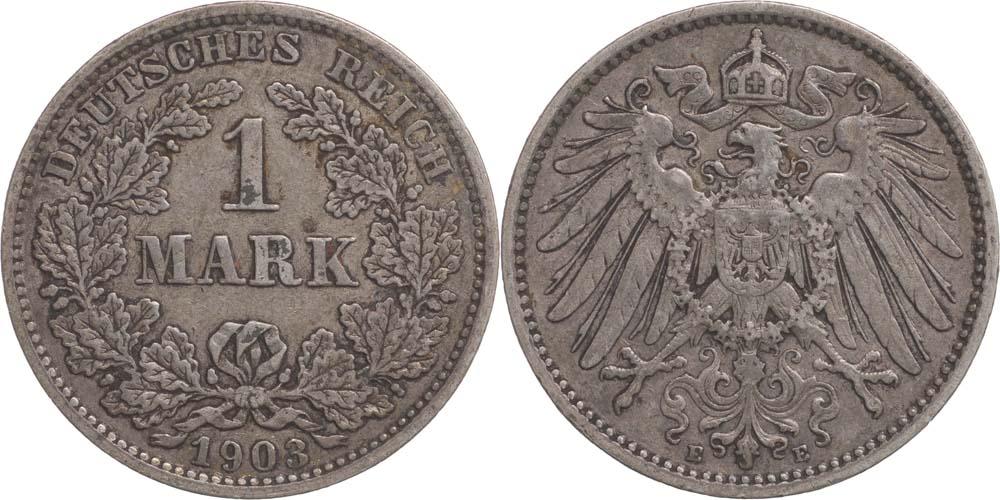 Übersicht:Deutschland : 1 Mark   1903 ss.