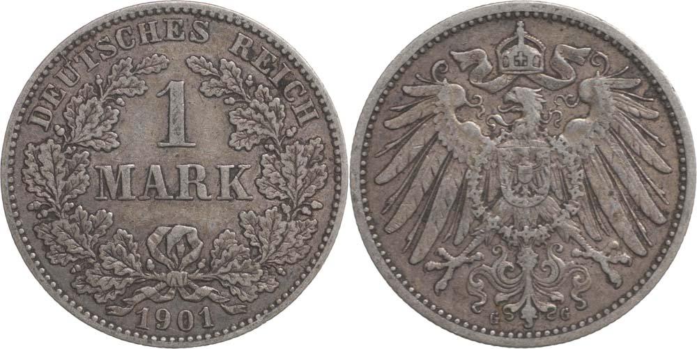 Lieferumfang:Deutschland : 1 Mark   1901 ss.