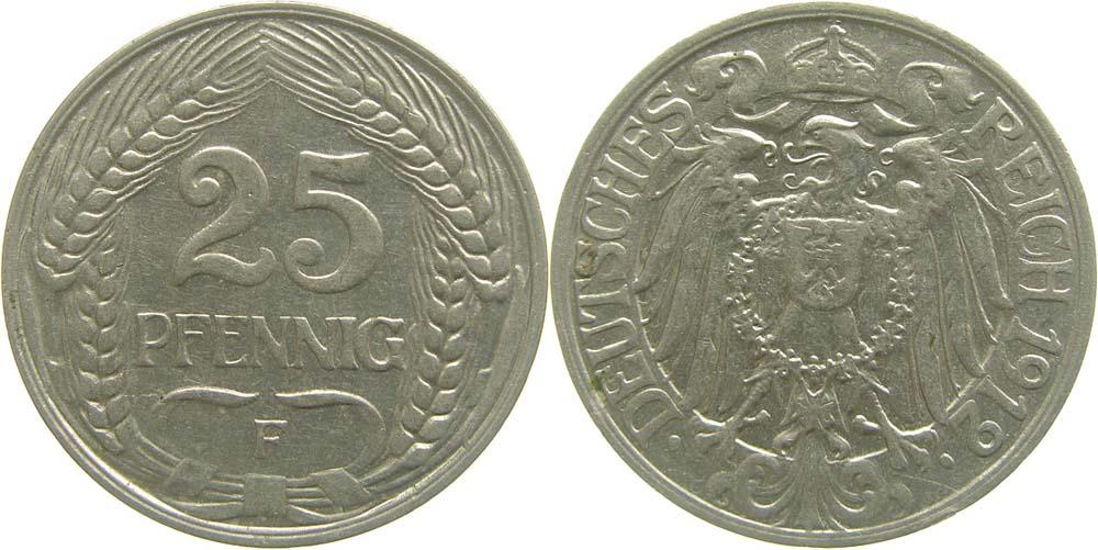 Lieferumfang:Deutschland : 25 Pfennig   1912 vz.