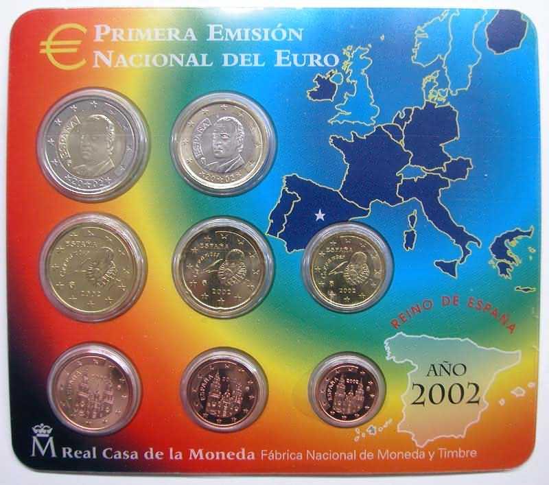 Lieferumfang:Spanien : 3,88 Euro original Kursmünzensatz aus Spanien  2002 bfr KMS Spanien 2002
