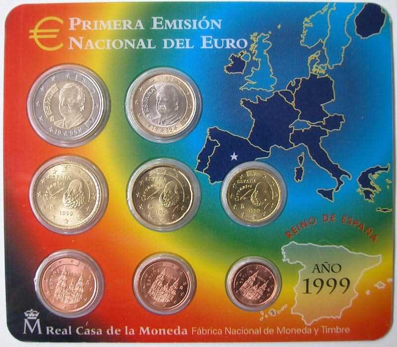 Lieferumfang:Spanien : 3,88 Euro Original Kursmünzensatz aus Spanien  1999 bfr KMS Spanien 1999