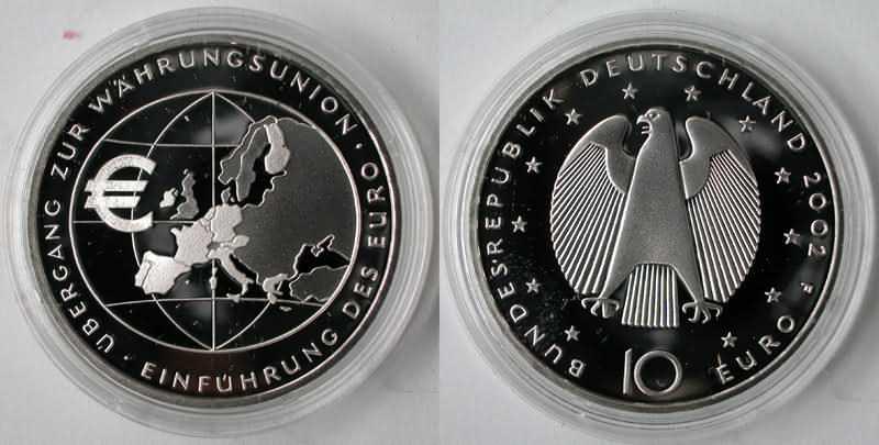 Deutschland 10 Euro Uebergang Zur Waehrungsunion Einfuehrung Des