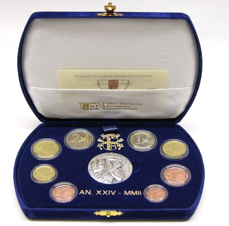 Lieferumfang:Vatikan : 3,88 Euro original Kursmünzensatz aus dem Vatikan  2002 PP KMS Vatikan 2002 PP