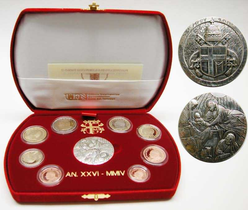 Lieferumfang:Vatikan : 3,88 Euro KMS Vatikan  2004 PP KMS Vatikan 2004 PP