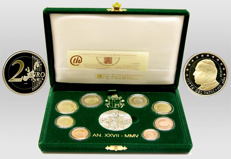 Lieferumfang:Vatikan : 3,88 Euro KMS Vatikan  2005 PP KMS Vatikan 2005 PP