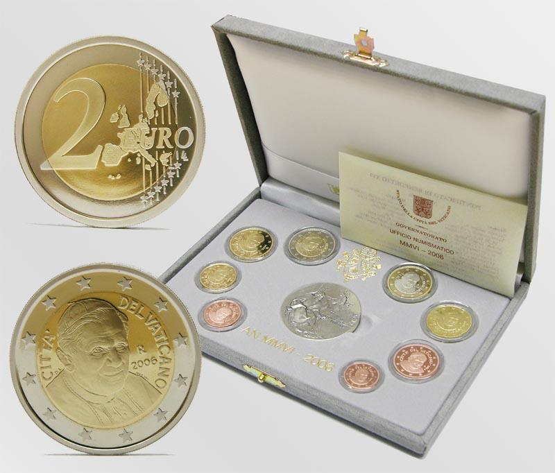 Lieferumfang:Vatikan : 3,88 Euro original Kursmünzensatz aus dem Vatikan  2006 PP KMS Vatikan 2006 PP