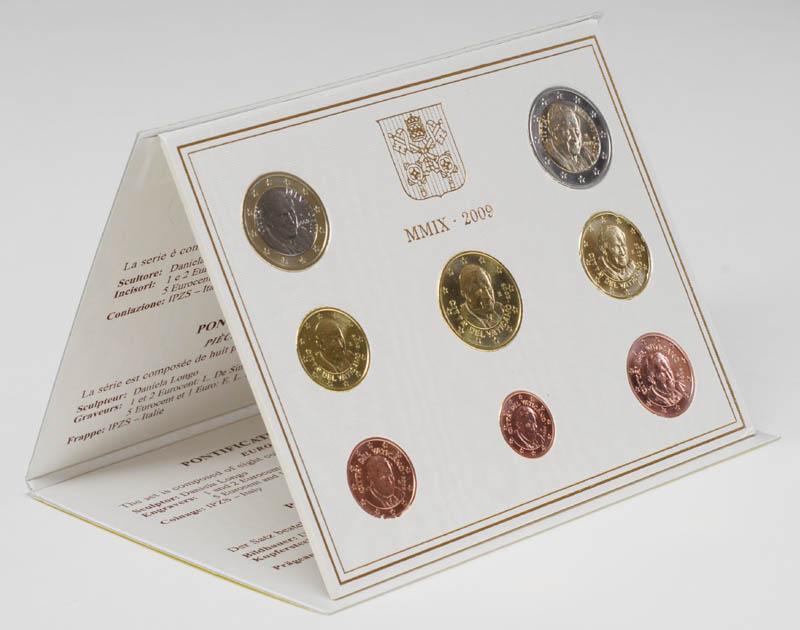 Lieferumfang:Vatikan : 3,88 Euro original Kursmünzensatz aus dem Vatikan  2009 Stgl. KMS Vatikan 2009 BU