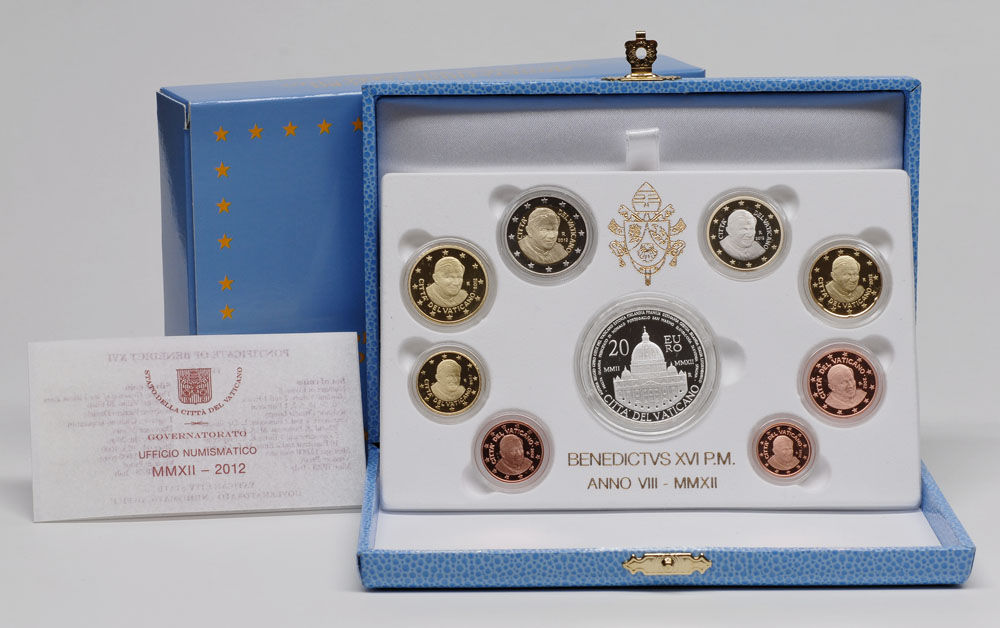 Lieferumfang:Vatikan : 23,88 Euro KMS Vatikan + 20 Euro Gedenkmünze  2012 PP