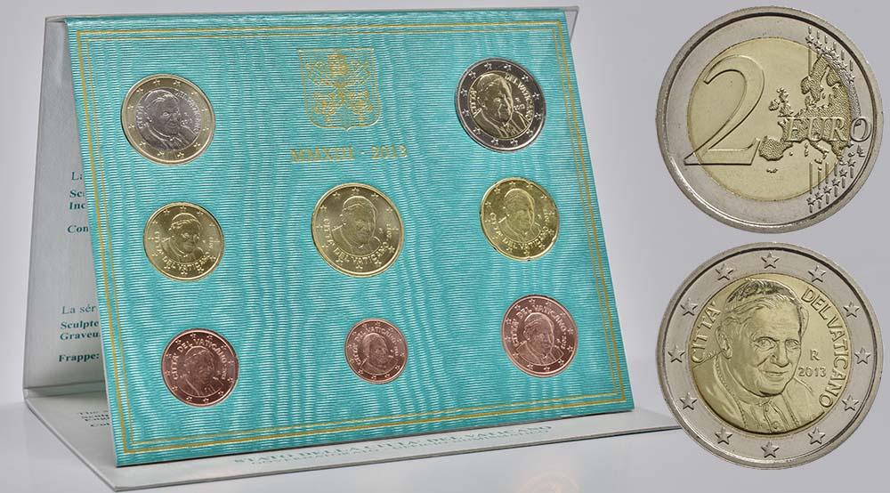 Vatikan : 3,88 Euro KMS Vatikan Benedikt XVI.  2013 Stgl. KMS Vatikan 2013 BU