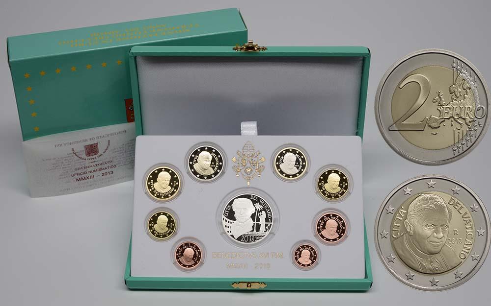 Lieferumfang:Vatikan : 23,88 Euro KMS Vatikan Benedikt XVI. + 20 Euro Gedenkmünze Verdi  2013 PP KMS Vatikan 2013 PP SILBER
